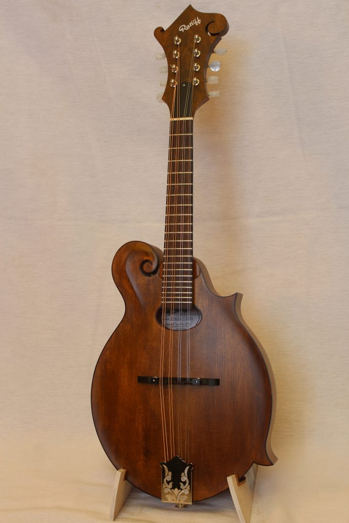 Custom Honey Stained Oval Hole Mandolin-1
